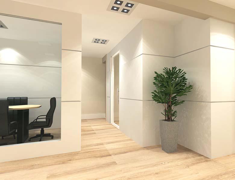 circulação - área salas de reunião e entretenimento